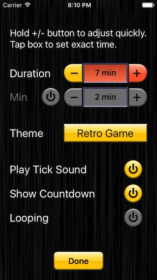 Party Game Timer app screenshot